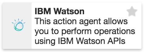 IBM Watson Action Agent XMPro